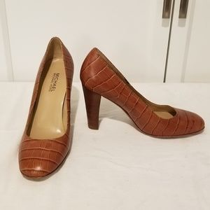 Michael Kors alligator print heels